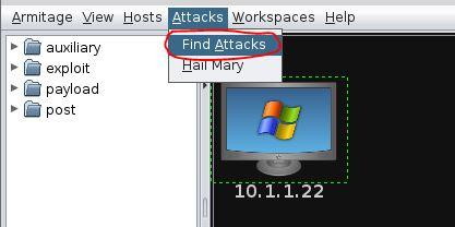 Armitage Find Attacks