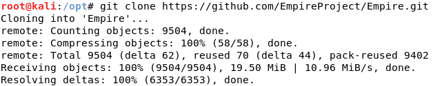 Using git to download Empire