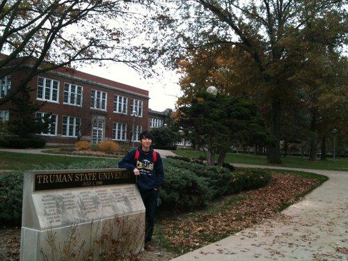 Joseph at his Alma Mater, Truman State University