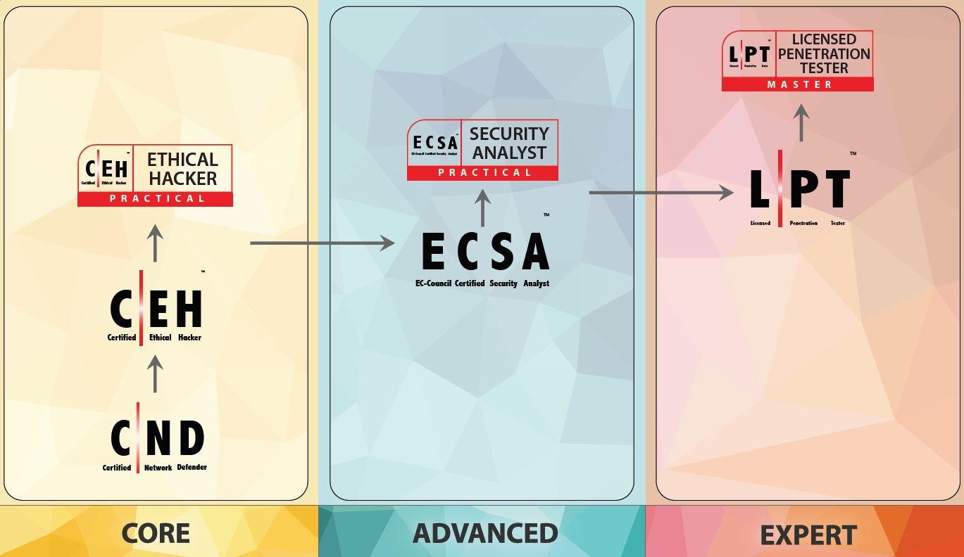 EC-Council Penetration Testing Track. (click to enlarge)