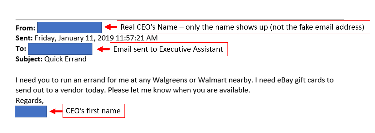 Initial Phishing Email to Elicit a Response