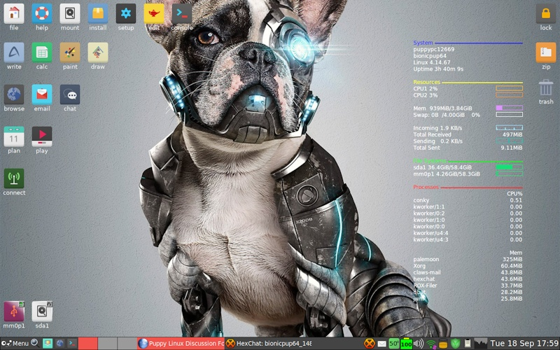 Puppy Linux, a Light-Weight, Memory-Resident Linux