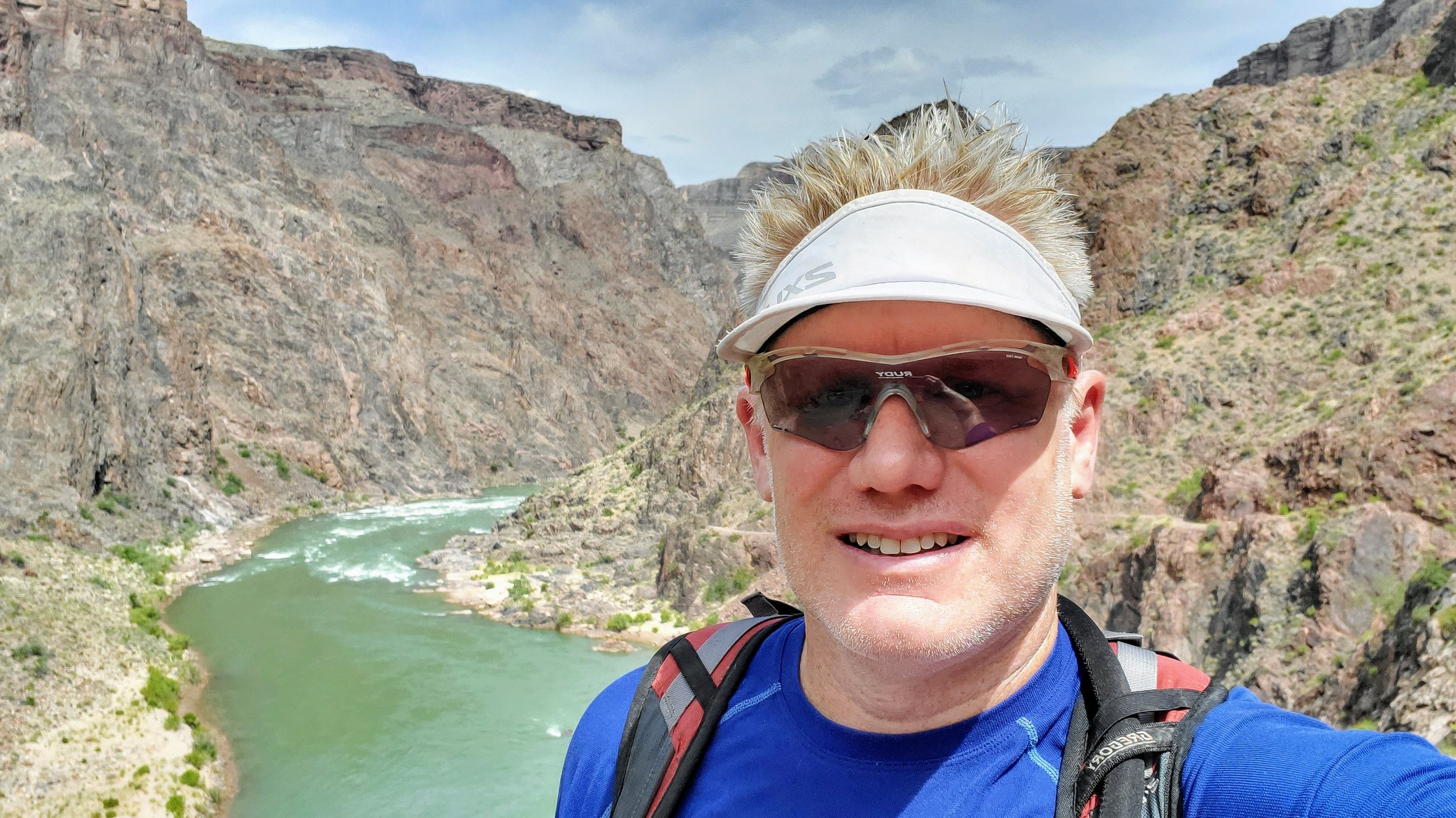Christian, crossing the Colorado River at Grand Canyon National Park