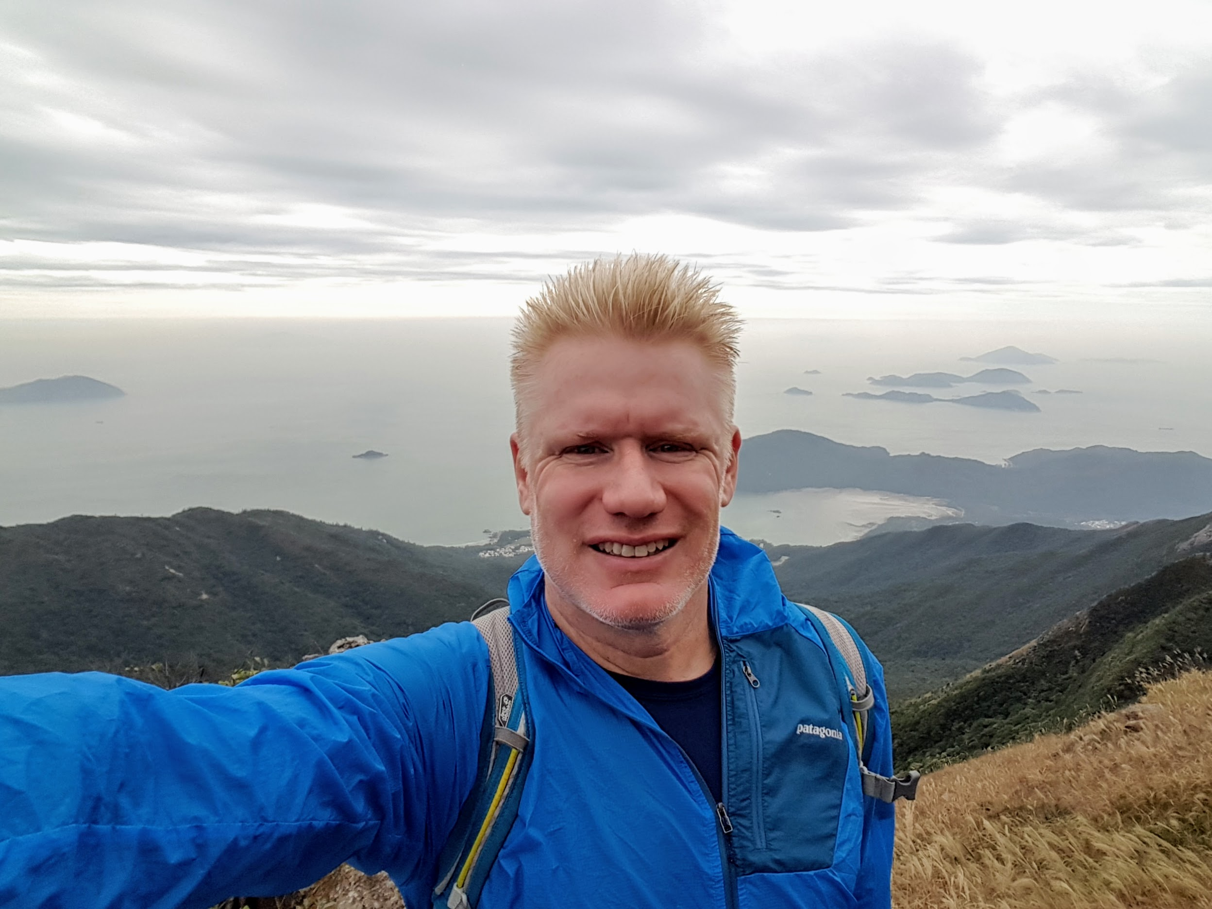 Christian at Lantau Peak near Hong Kong