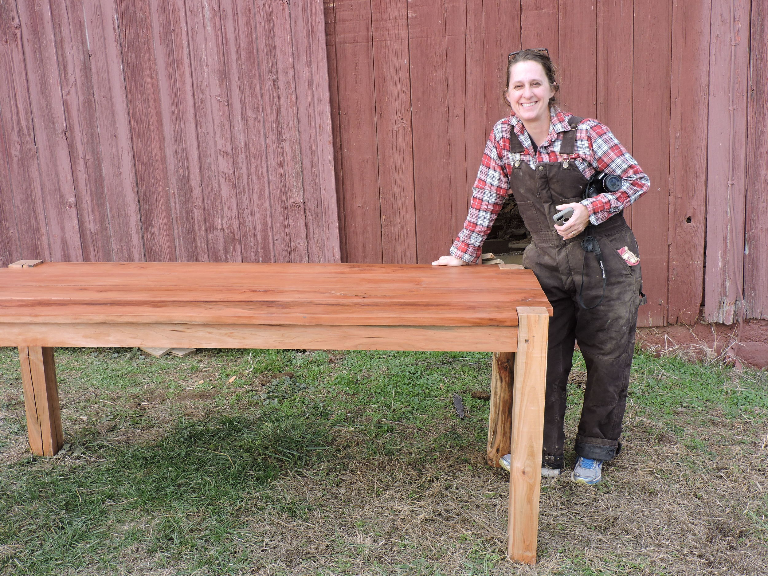 Lisa - Cherry Farm Table- Reclaimed Lumber HWY 37.