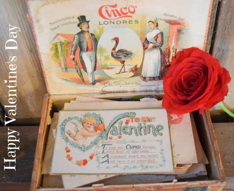 On this Valentine's Day how special to share a message of love from a groom to his bride to be in 1912.