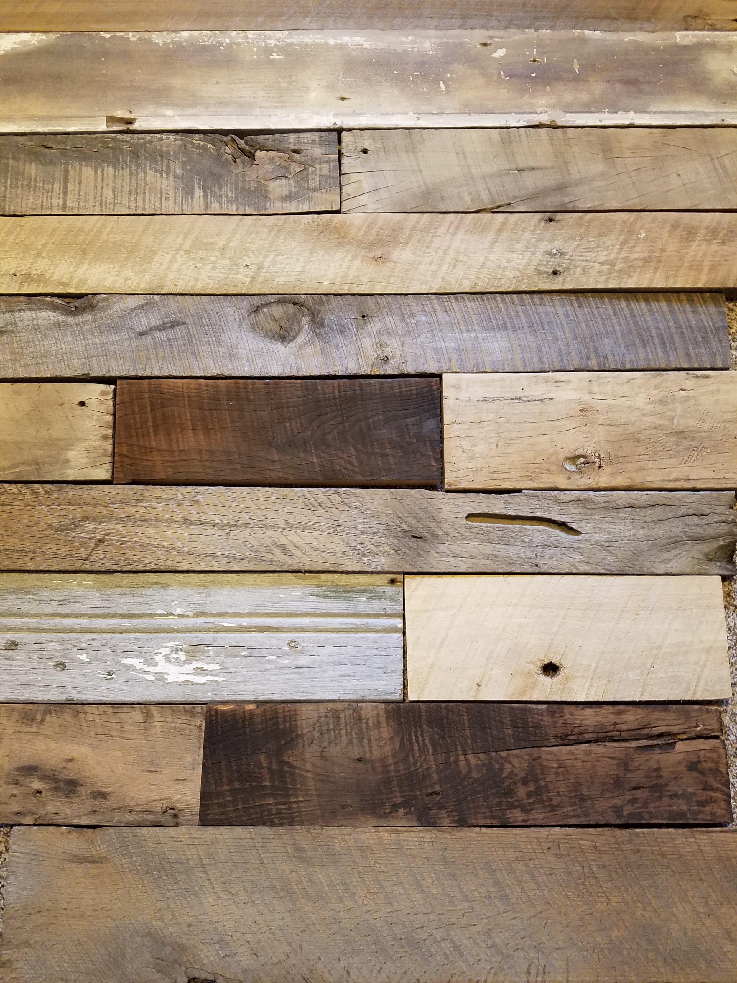 Clad Wall with Reclaimed Lumber