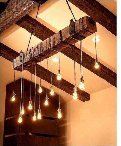 Reclaimed Barn Beam Pendant Light