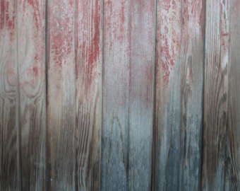 Weathered with some red paint. Bead down the center of 7 in lumber