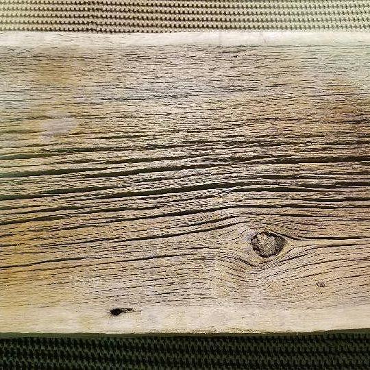 Brush sanded 1 inch siding with plain edges