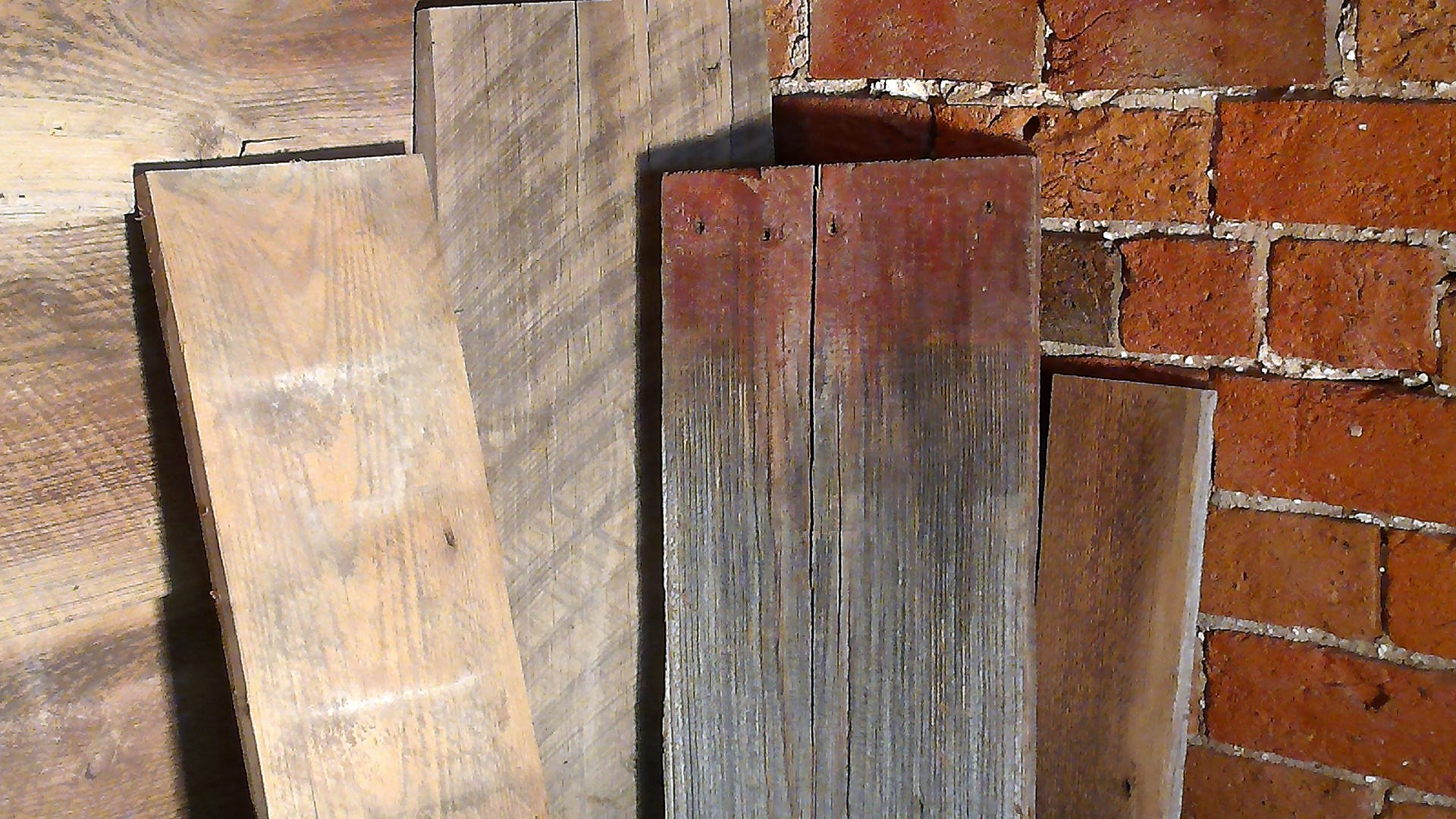 Kiln Dry 1 and 2 inch thick reclaimed lumber.