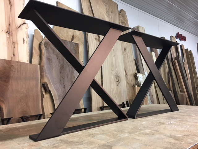 Design your own base. - Steel or wood designs available