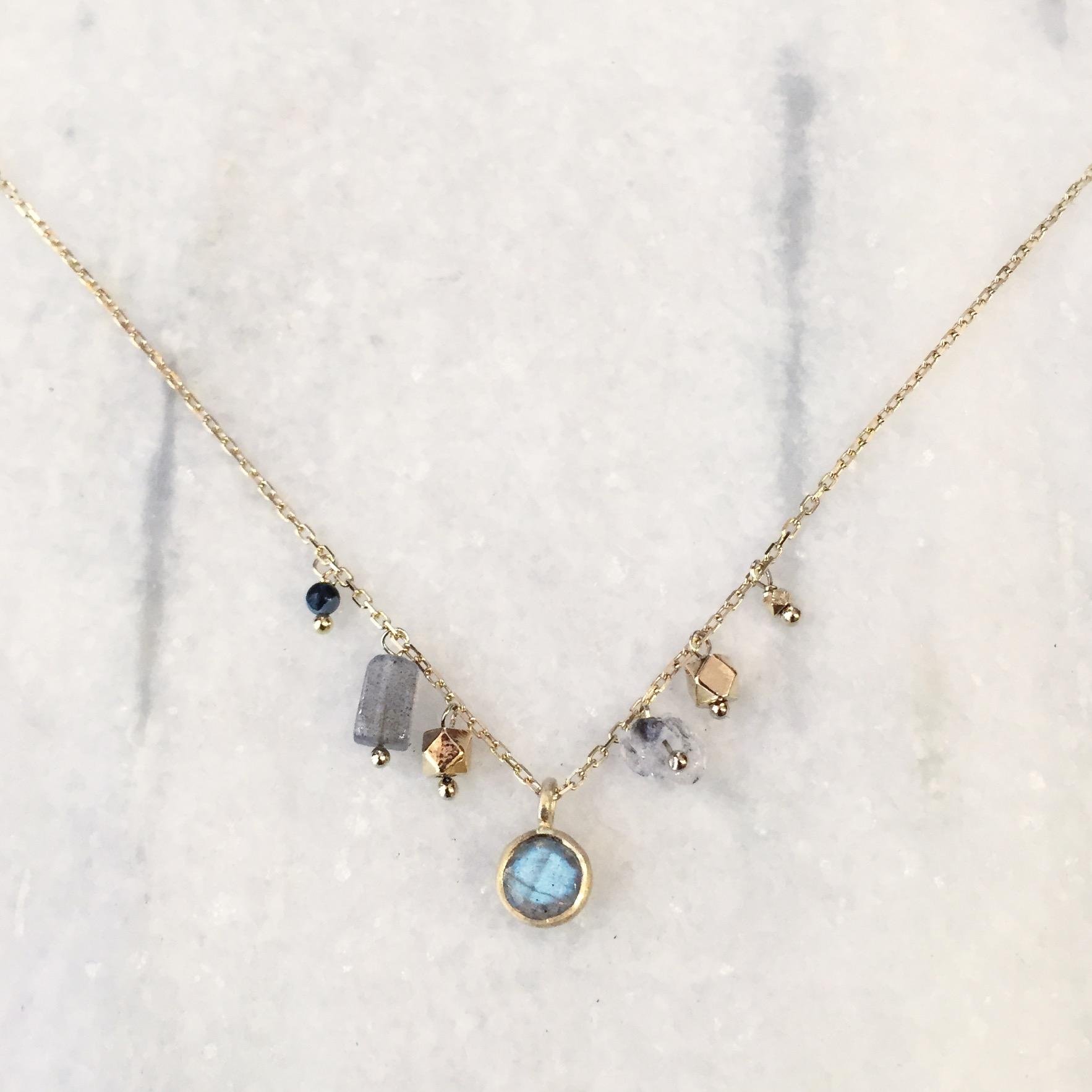 Labradorite Jewellery Silver Plated 925 Sterling Necklace Handmade Labradorite Gemstone Necklace Gemstone Jewellery