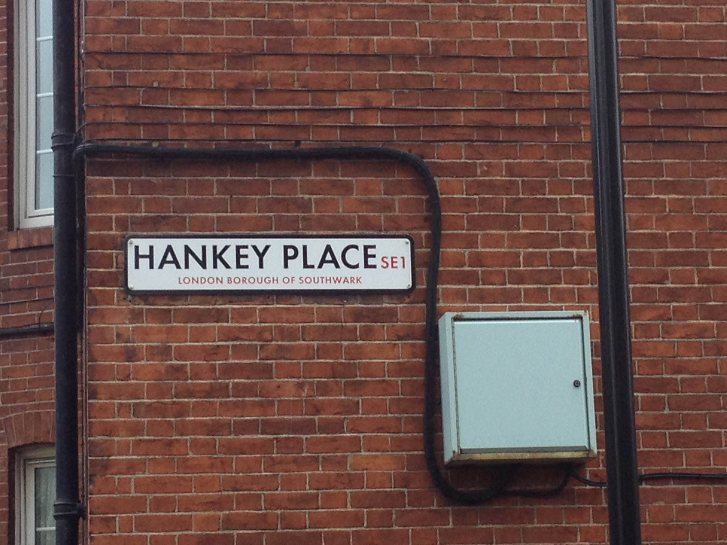 Is this where handkerchiefs originated? Should it be re-named Kleenex Place? Or maybe Pankey Place is around the corner.