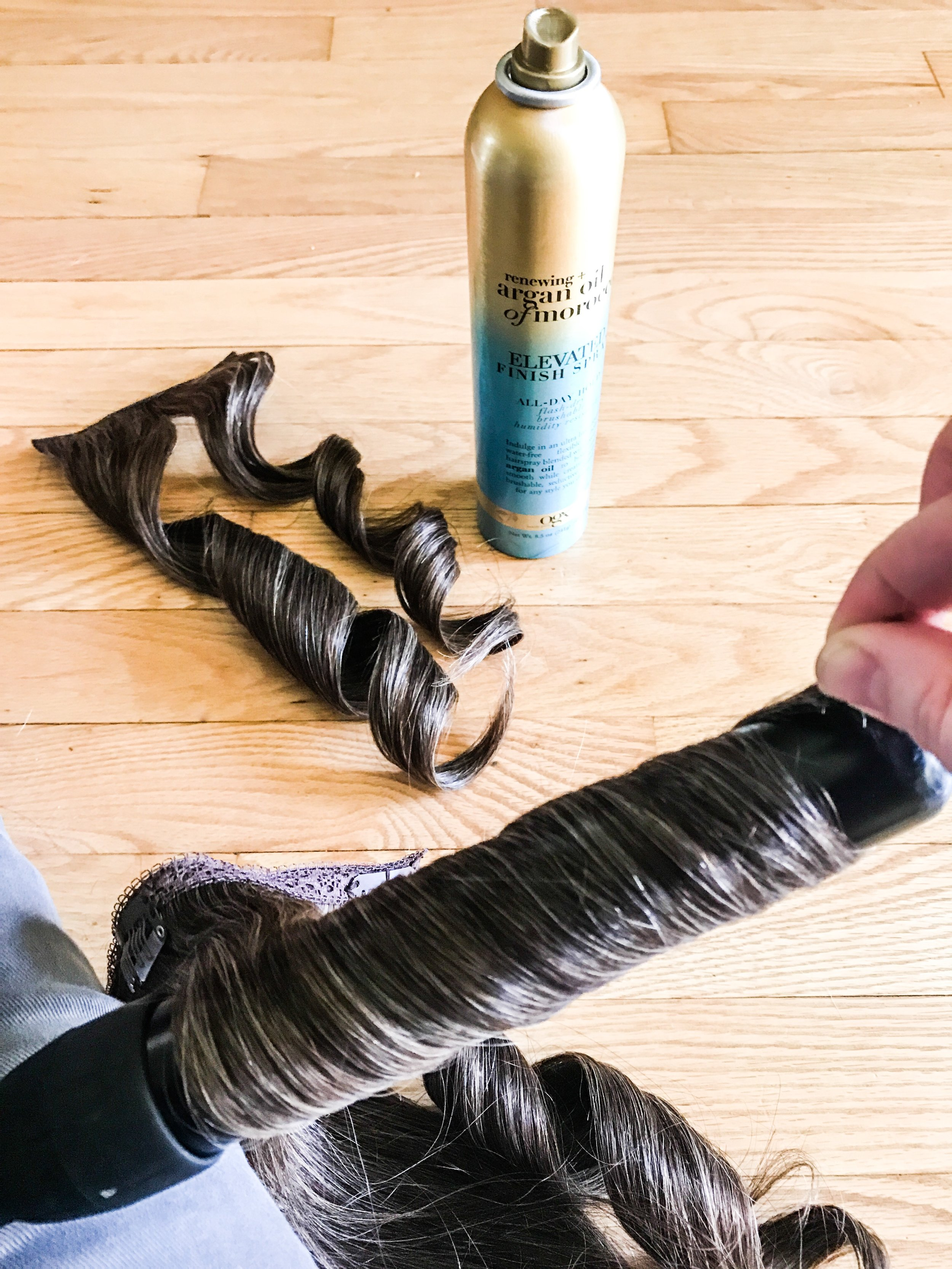 Best hairspray for hair extensions. How to style and curl hair extensions.