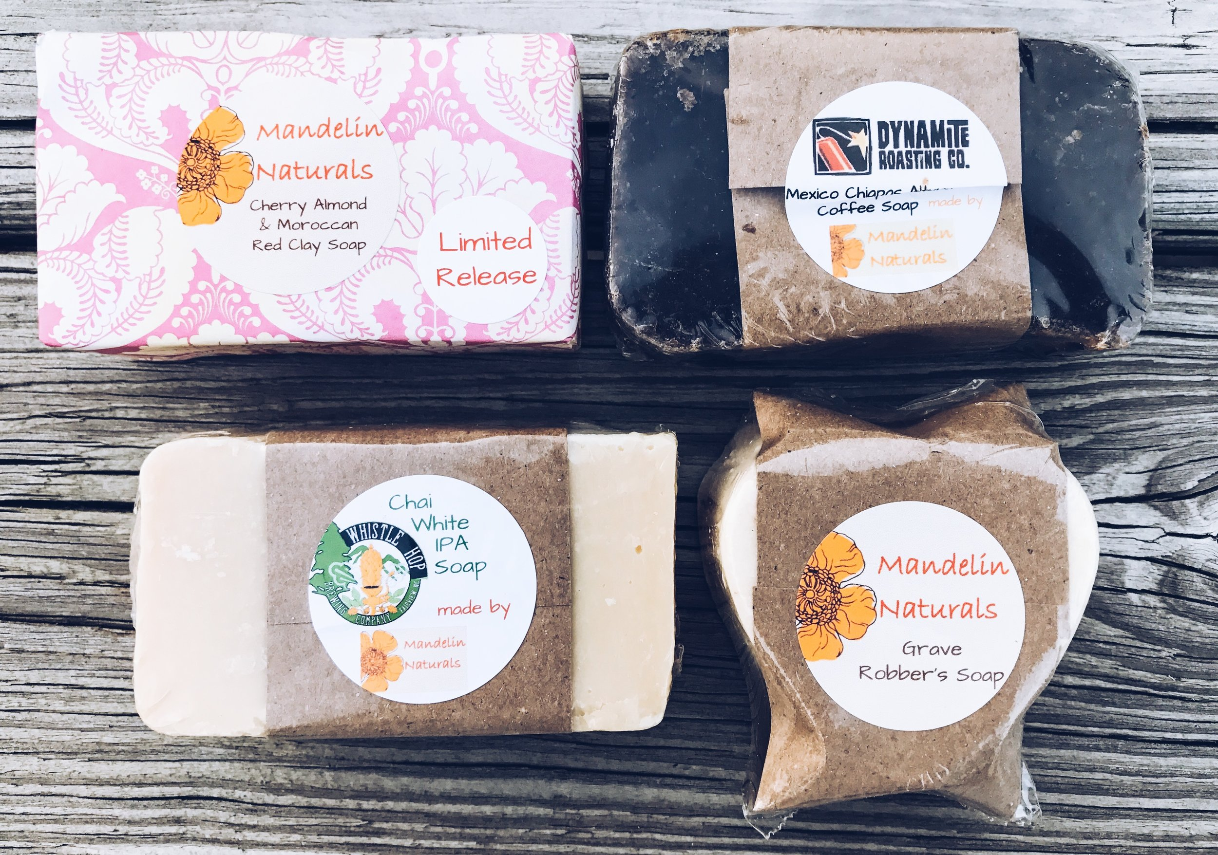 Handmade earthy soaps. Natural soaps for Mother's Day.