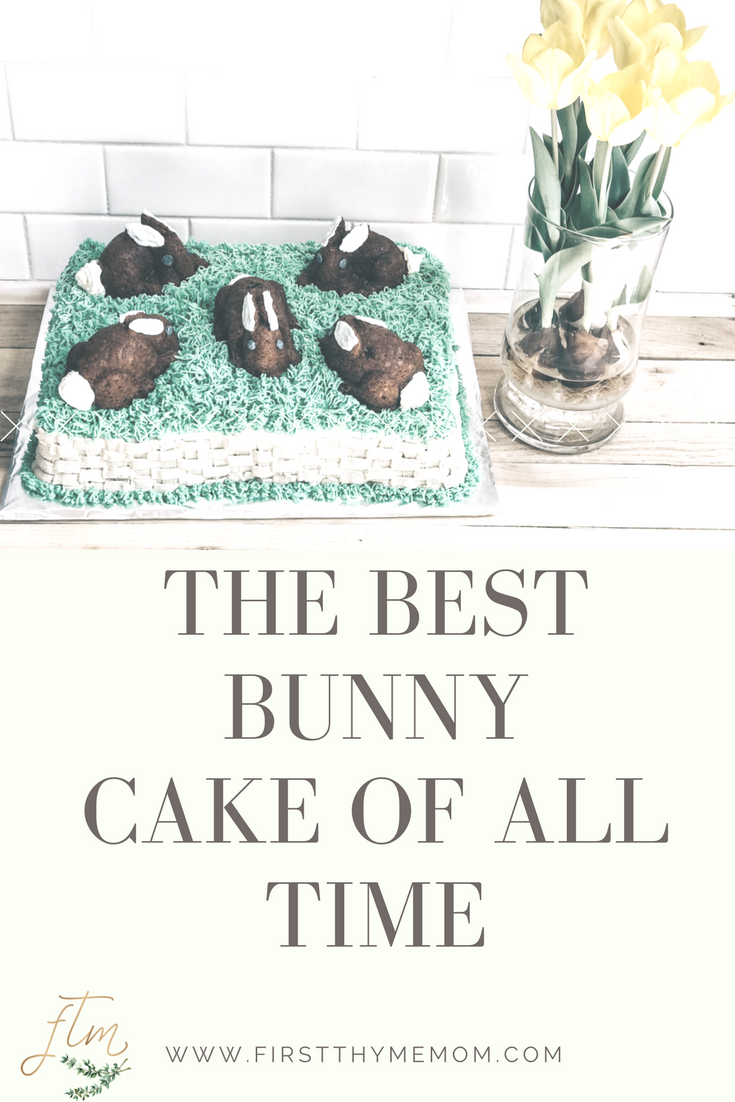 The best Easter bunny cake of all time. Made using the Nordic Ware Bunny Cake Pan. How to make an Easter or Spring Bunny Cake.