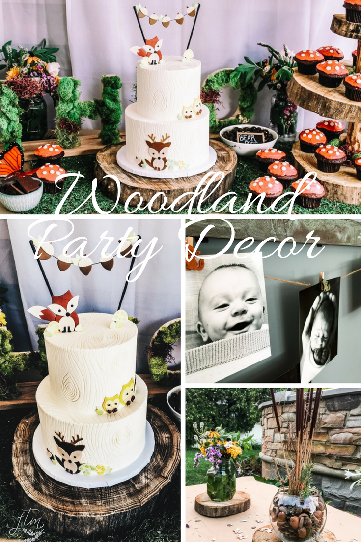 Woodland themed, lumberjack themed, wild one themed first birthday party decor and ideas.