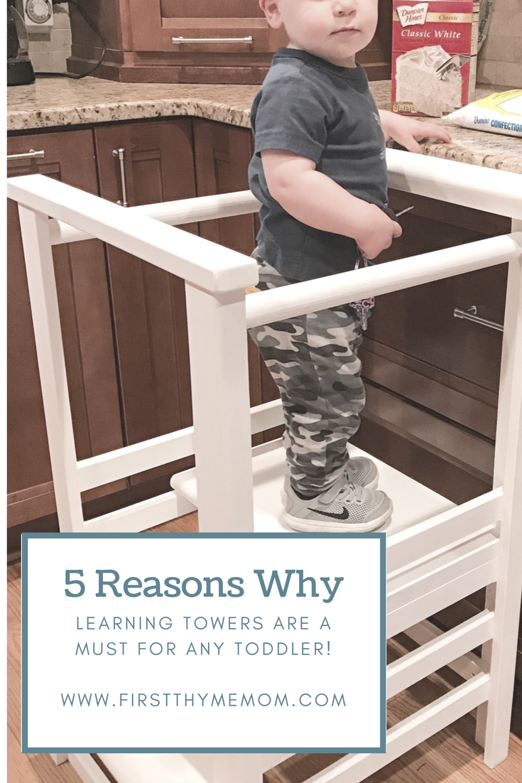 Learning towers are a great way for toddlers to bond and learn with their parents. Here are 5 reasons why a leaning tower is a must-have for all toddlers. They will love being a help in the kitchen!