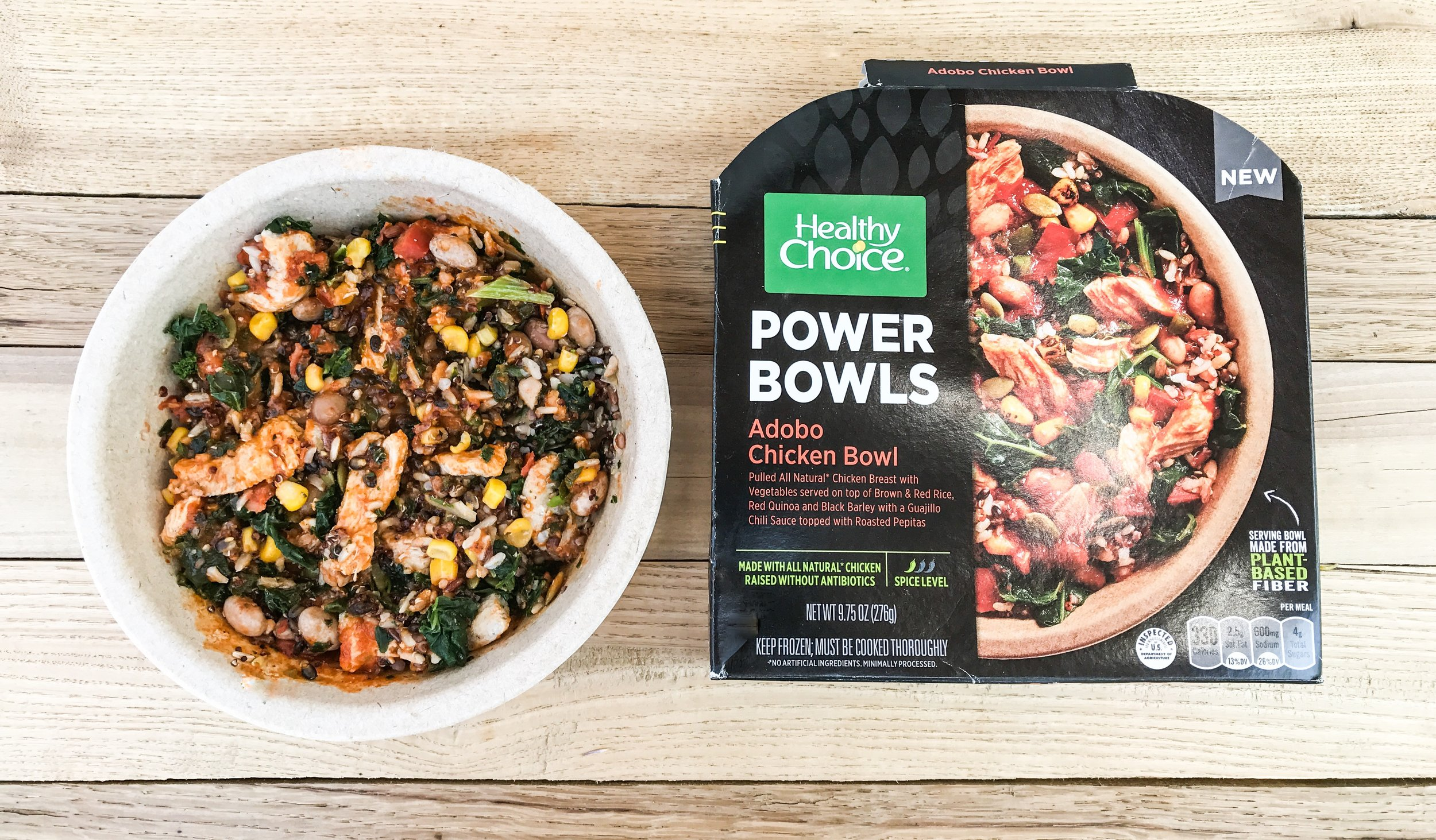 Adobo Chicken Bowl by Healthy Choice - whole grains, veggies, and lean chicken.