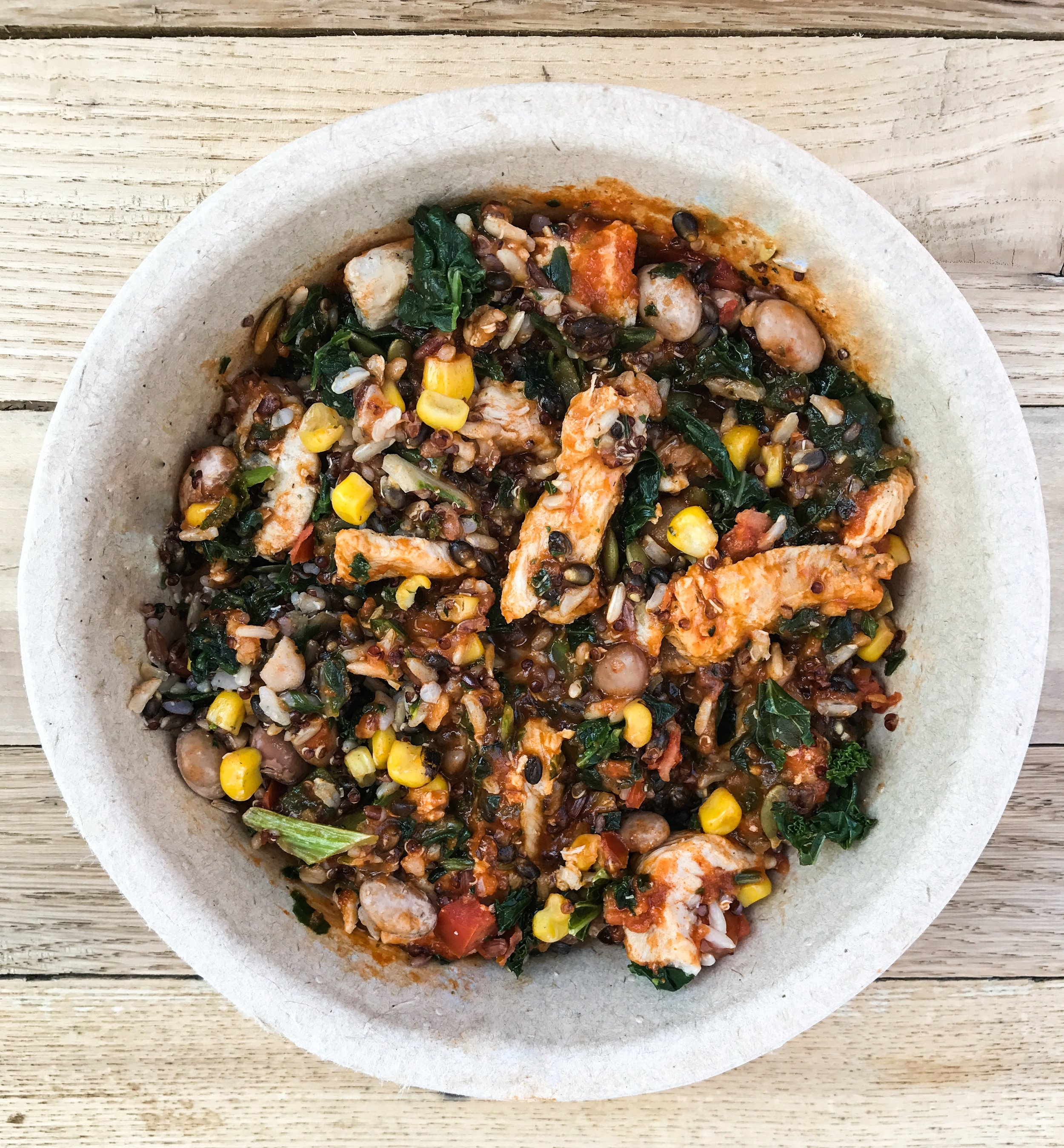 Adobo Chicken Bowl by Healthy Choice. Good for you ready to eat meal solutions.