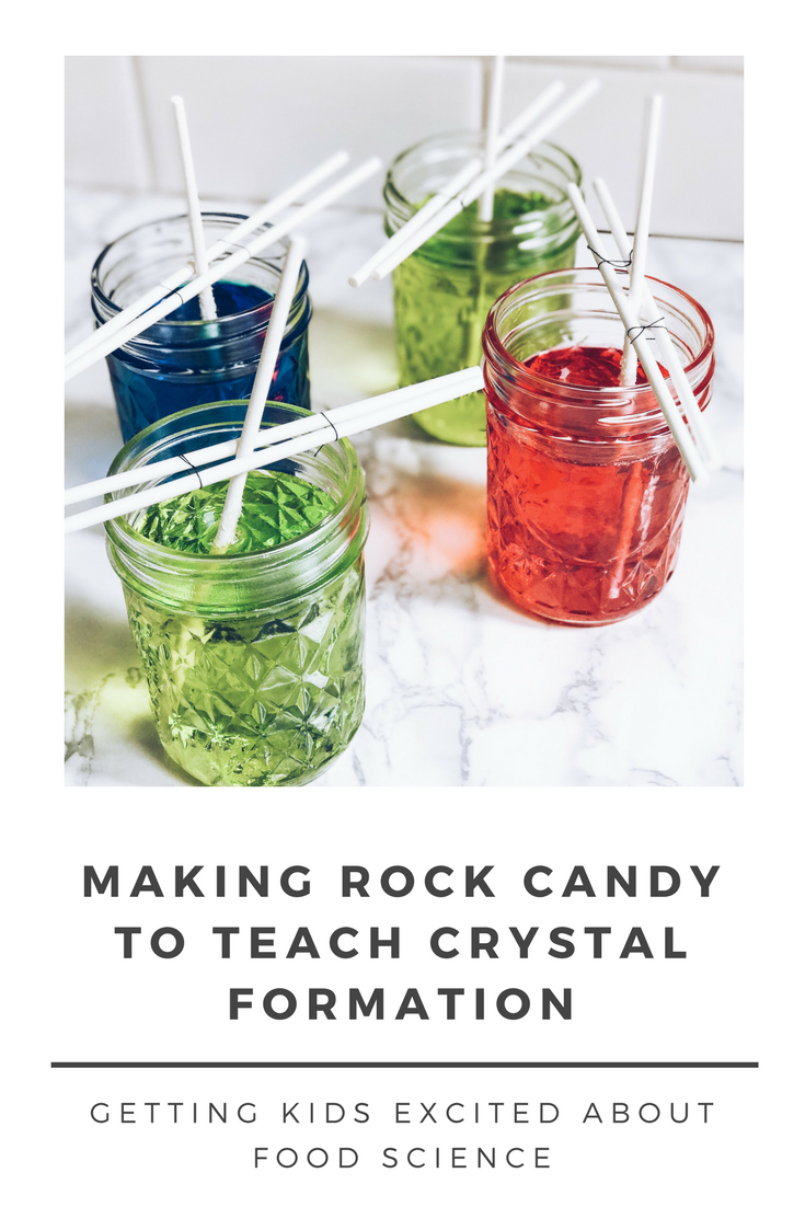 How To Make Rock Candy - All About Crystal Formation. Making Food Science Fun For Kids.