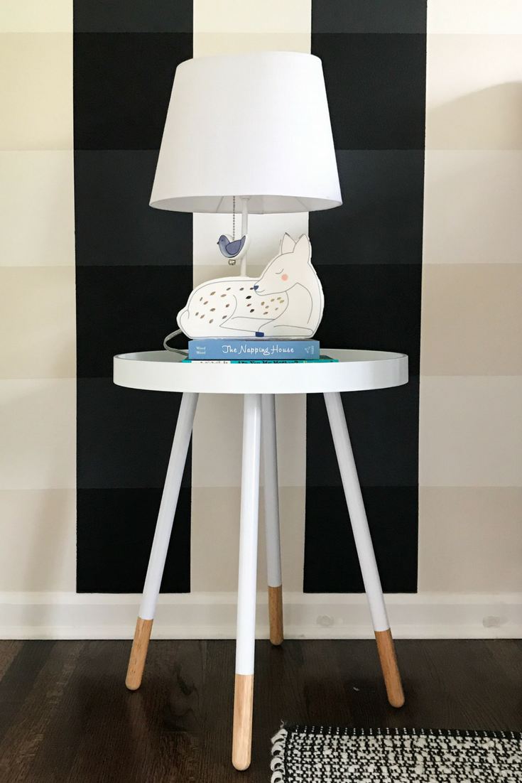 Woodland Creatures Nursery Decor For Baby Boy Or Girl. Land of Nod Deer Table Lamp for Woodland Creatures Nursery. Animal Nursery Lamps.