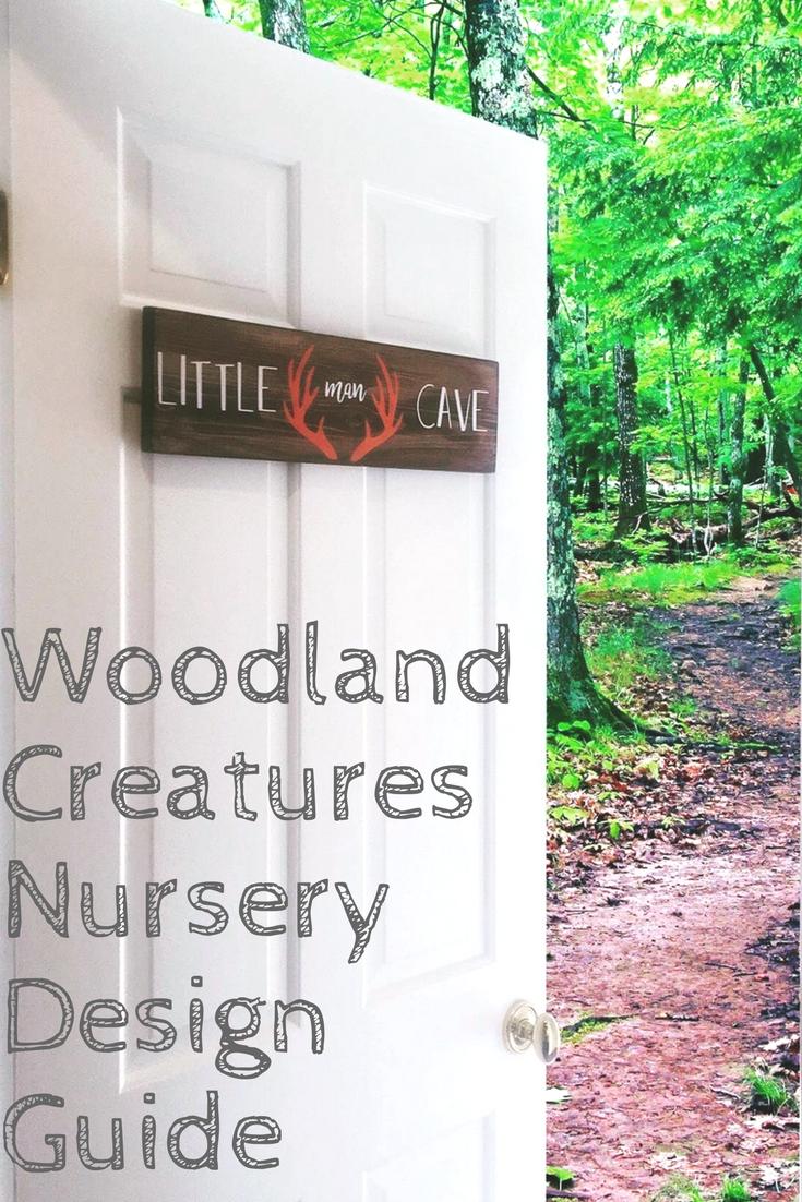 Woodland Creatures Nursery Decor For Baby Boy Or Girl. Buffalo Plaid Nursery Wall Paint. Black and white gender neutral nursery design. Outdoor animal themed simple nursery for baby.