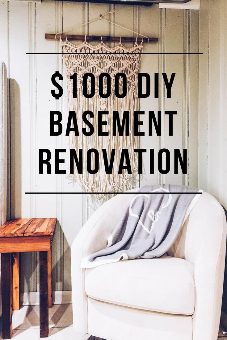 $1000 DIY Basement Renovation — First Thyme Mom