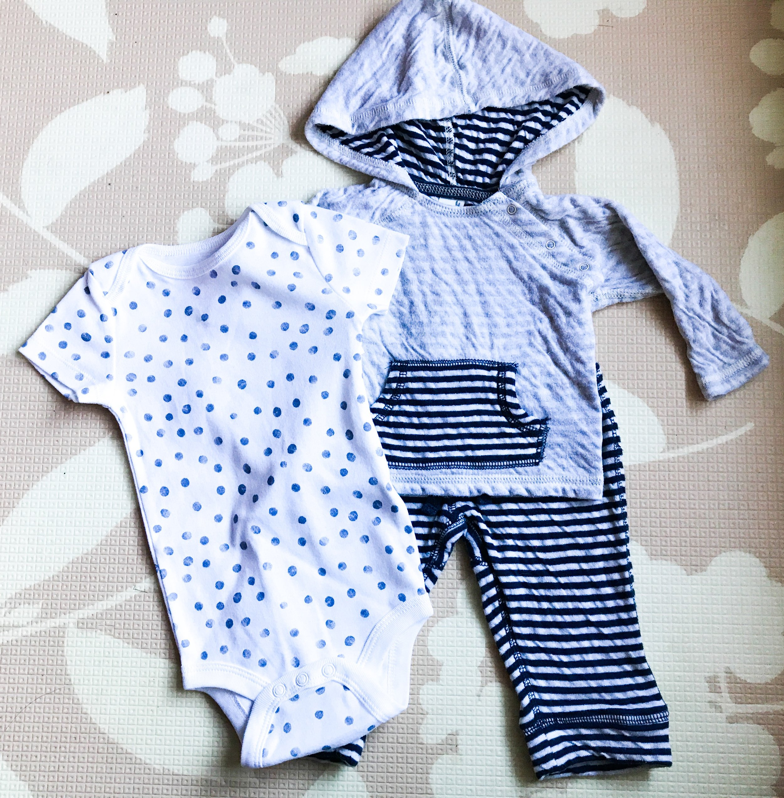 Preparing to have a baby boy. Shopping for a baby boy.