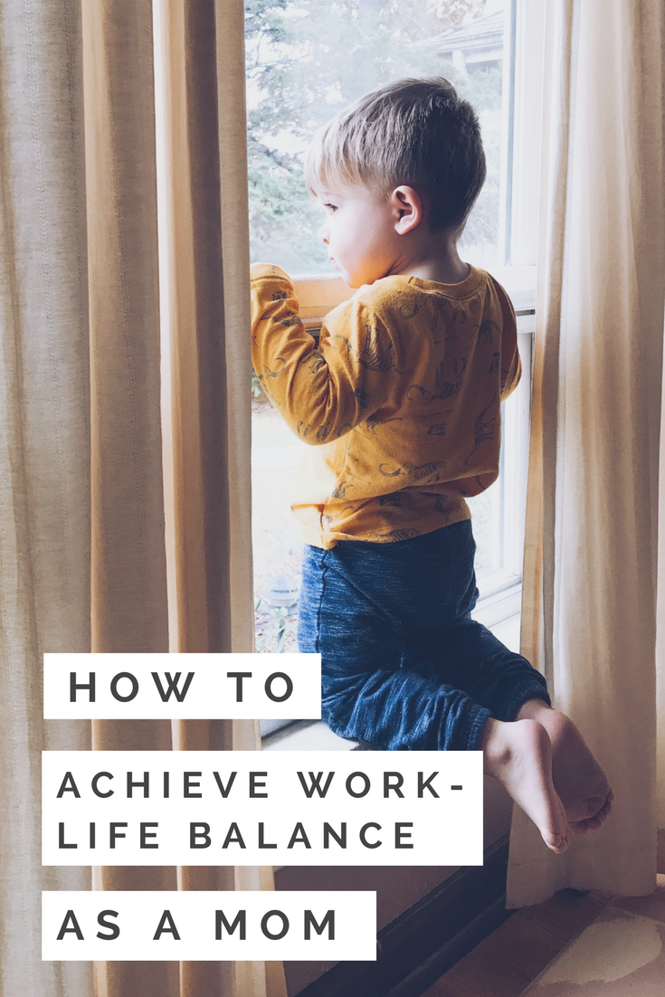 7 Tips For Achieving Work-Life Balance As A Mom. How to handle going back to work after maternity leave or extended leave. #workingmom