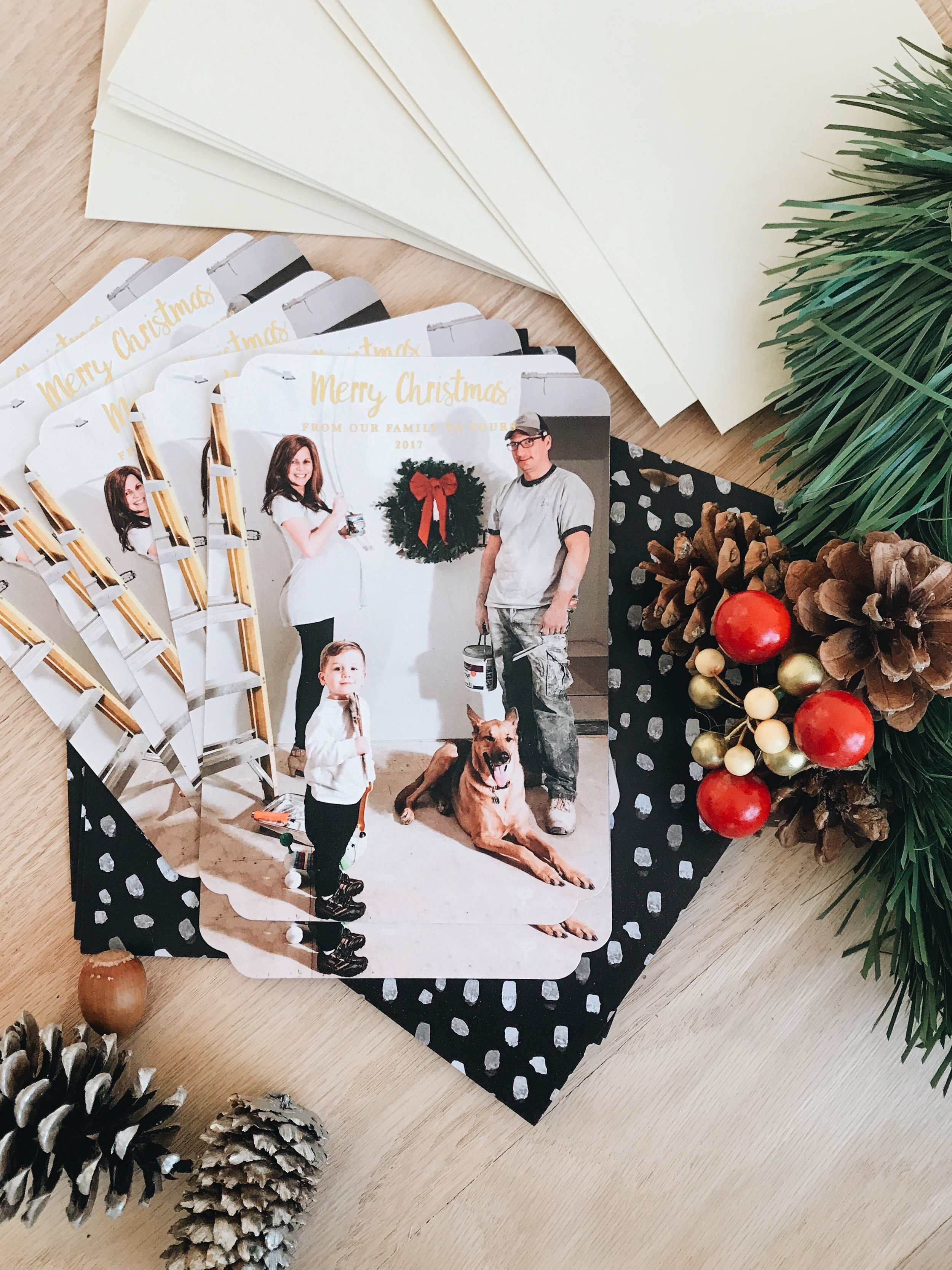 How To Create An Amazing Holiday Card Using Pretty Polite Boutique. How to stage a photo card for the holidays.