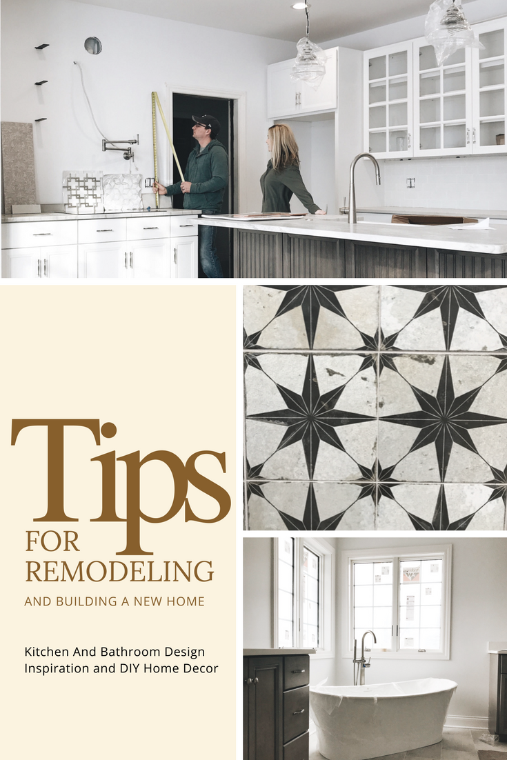 Tips for remodeling and building a new home. Home decor ideas and inspiration. Kitchen ideas, bathroom ideas, home design ideas for a new house.