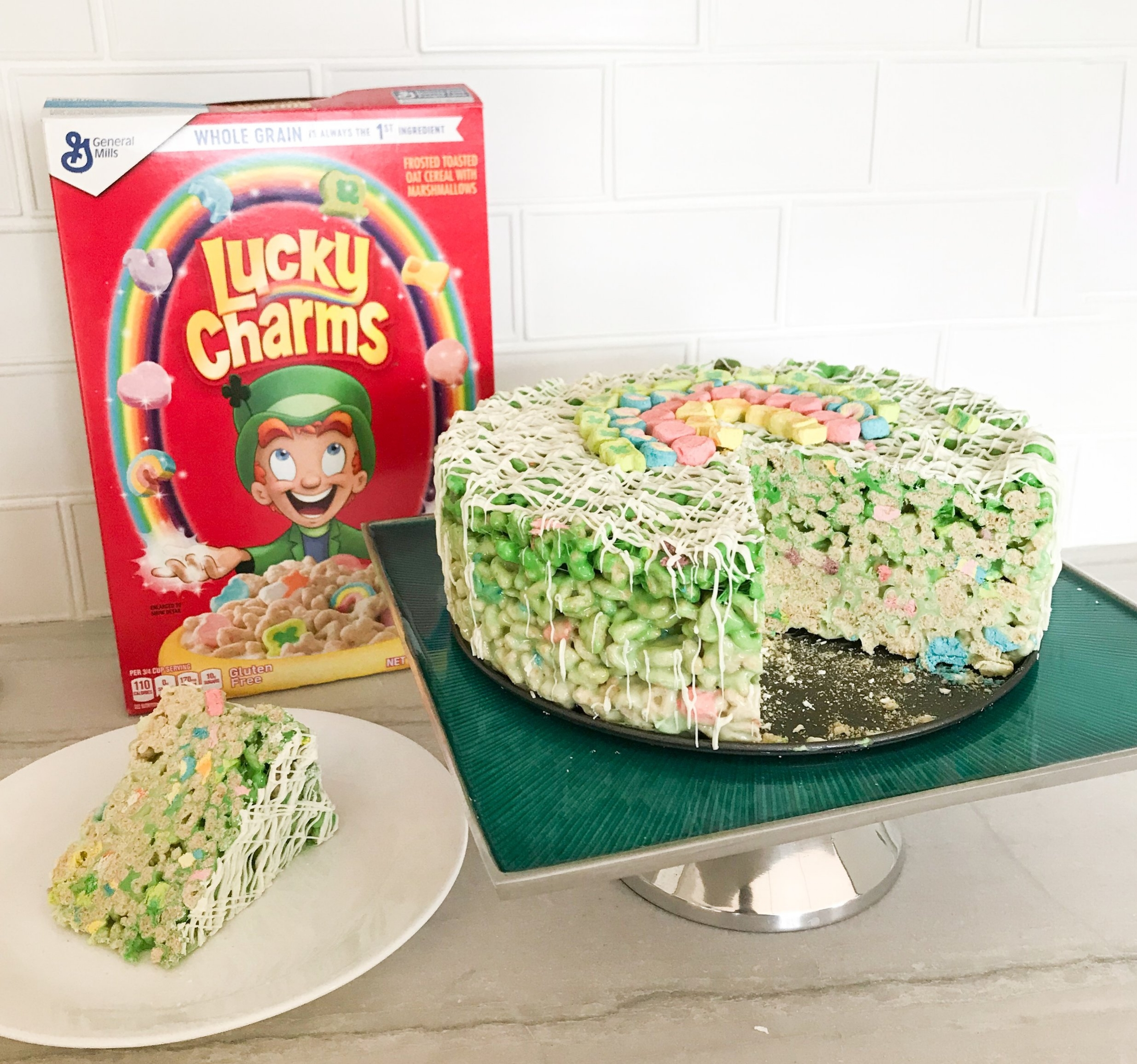 Lucky Charm Green Ombre Cake For St. Patrick's Day