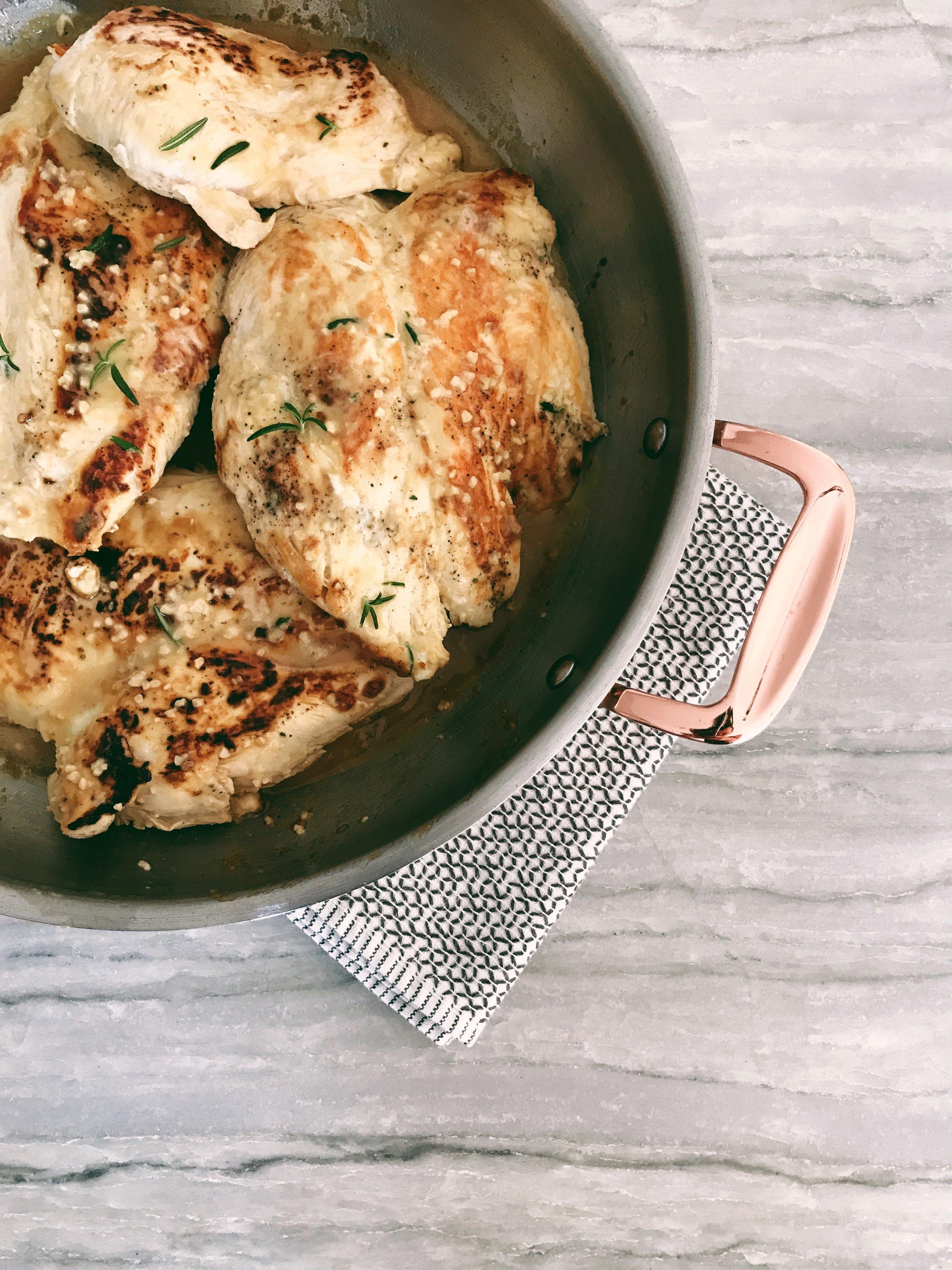 Honey Dijon Rosemary Chicken Recipe, with Apple Cider Vinegar and Garlic