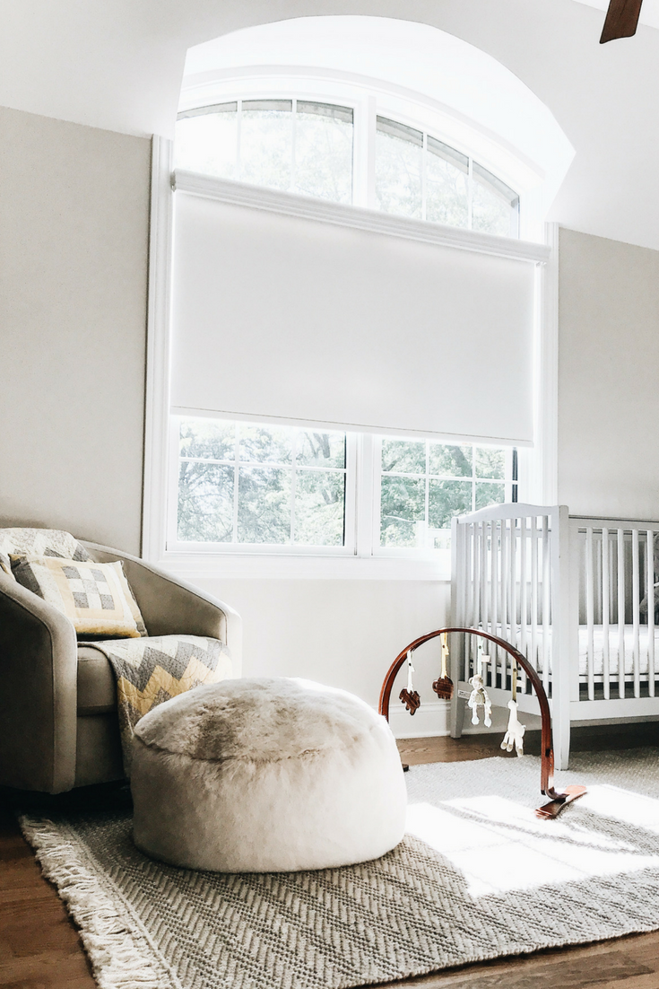Minimalistic Nursery Decor. Arched Bedroom Windows. Home Design And Decor Ideas And Inspiration.