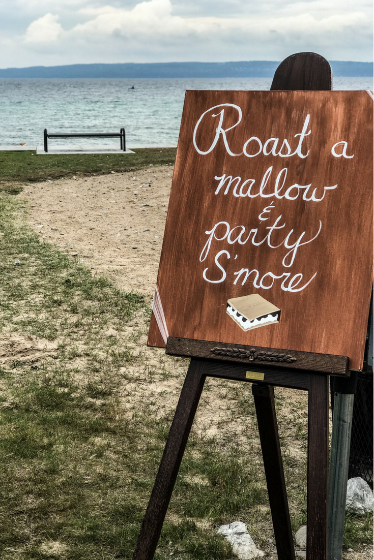 Roast A Mallow And Party S'more Wedding Sign. Beach wedding bonfire ideas. How To Have A Gorgeous Beach Wedding In The Midwest.