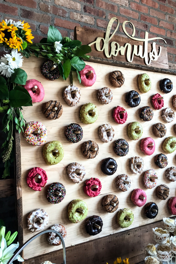 Brightly Colored Donuts For Donut Wall. DIY Donut Wall Dessert Table For A Wedding Or Shower