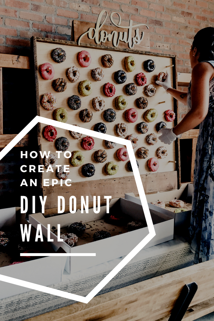 How To Make A Donut Wall For A Dessert Table. DIY Donut Board For A Wedding or Shower.
