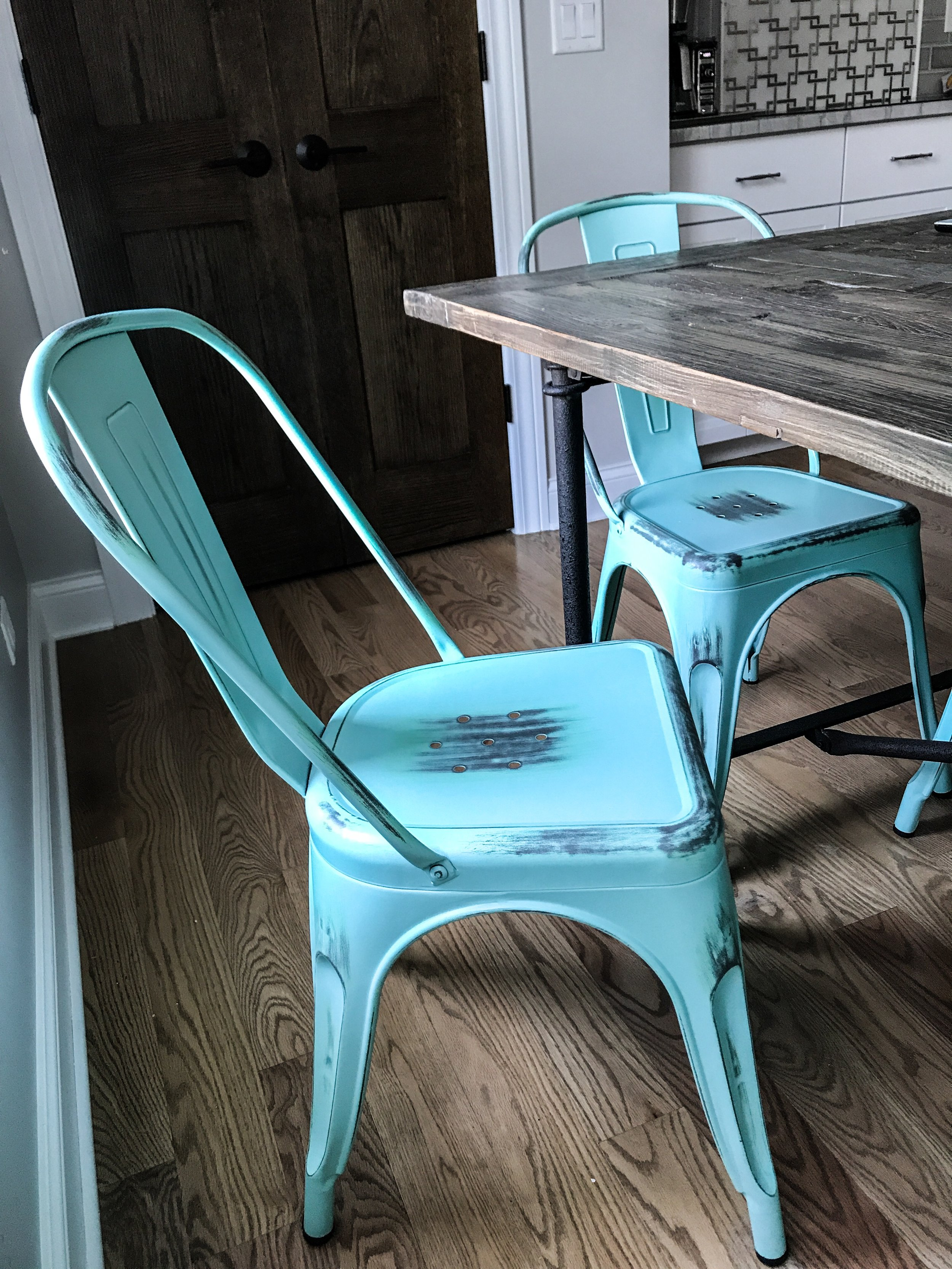 Bastille Cafe Chair In Antique Turquoise. #inmod #sponsored
