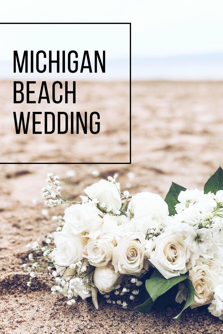 Lake Michigan Beach Wedding. Michigan Wedding Ideas. Beach wedding decor.