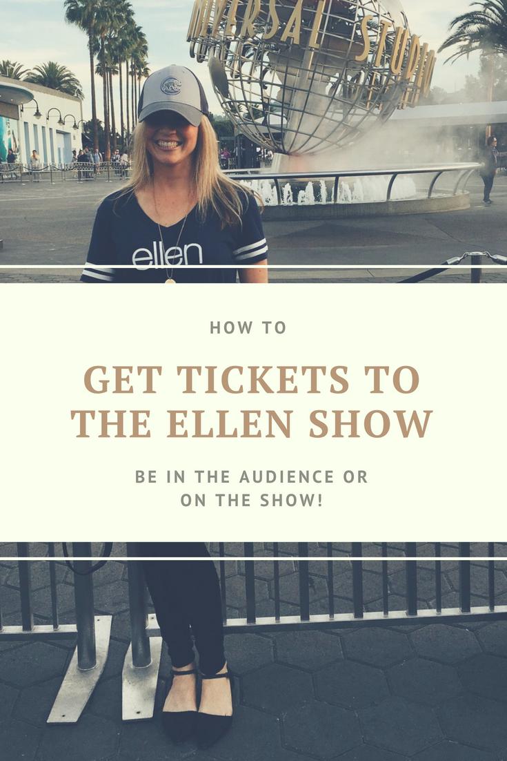 How To Get Tickets To The Ellen Degeneres Show. How To Get Tickets To Be In The Ellen Show Audience. Being on The Ellen Show. How To Get Ellen Tickets #Ellentickets