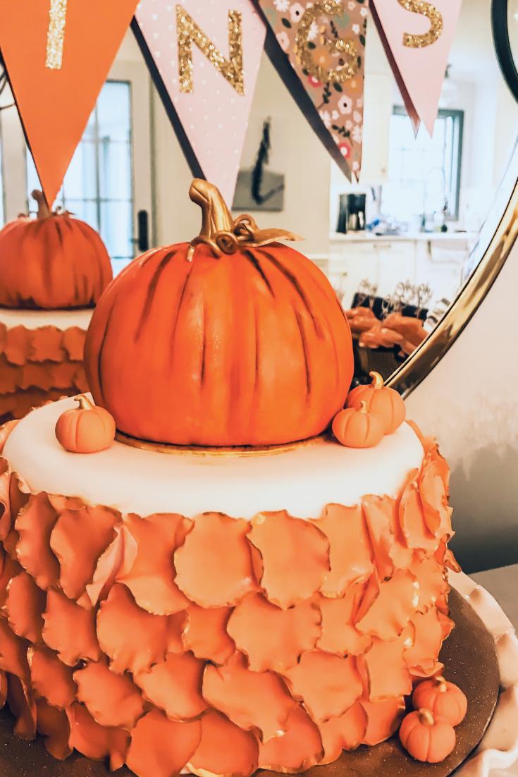 Fall Pumpkin Cake Ideas For Shower or Birthday Party. Pumpkin cake ideas. Fall Baby Shower Decor Ideas. #pumpkin #cake #ideas