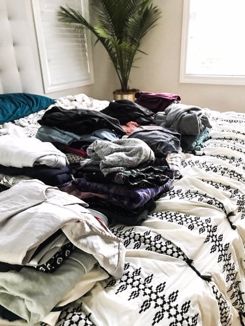 Purging your closet - how to donate clothing that no longer Sparks Joy. Living the KonMari way. The Life Changing Magic of Tidying Up.