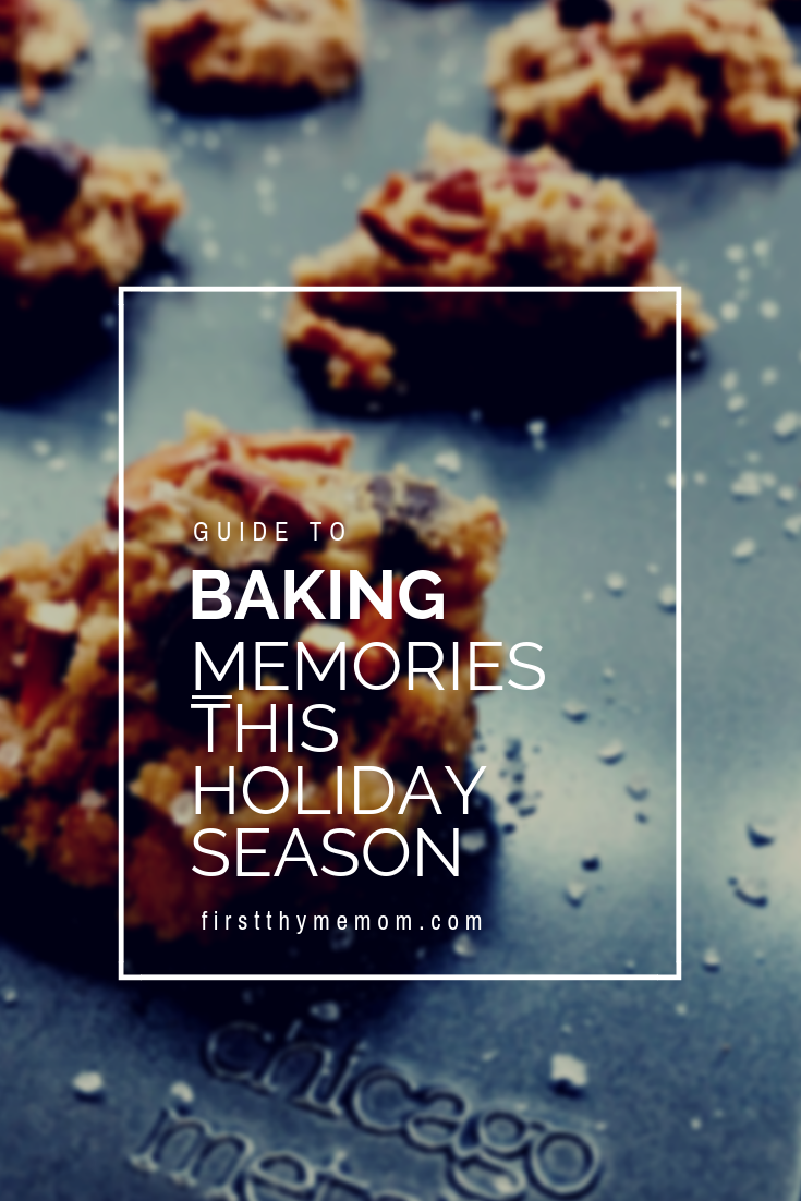 Holiday cookie recipes. Making memories in the kitchen with your kids. How to make browned butter pecan pretzel cookies and upside down pineapple cakes using Chicago Metallic bakeware. Best bakeware for the cookies, cakes, and muffins. #sponsored #chicago #metallics #holiday #cookies