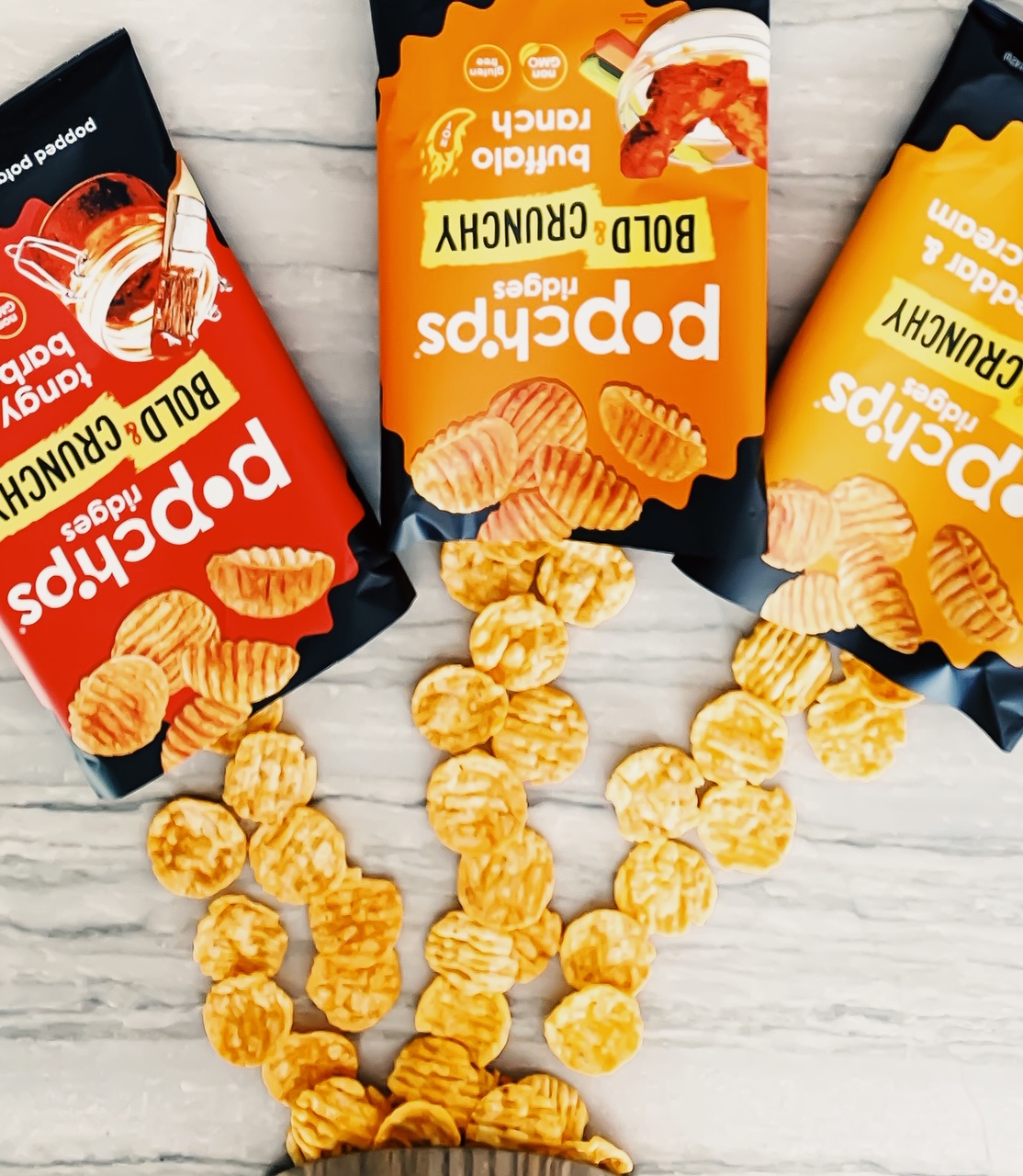 How Do You Plan To Bring Flavor To Your Super Bowl Celebration This Year? Add Bold And Crunchy Flavor To The Big Game With Buffalo Ranch, Tangy Barbecue, and Cheddar & Sour Cream popchips Ridges! Super Bowl Snack Ideas. Appetizers for Super Bowl. #sponsored #popchips #snacks #super #bowl