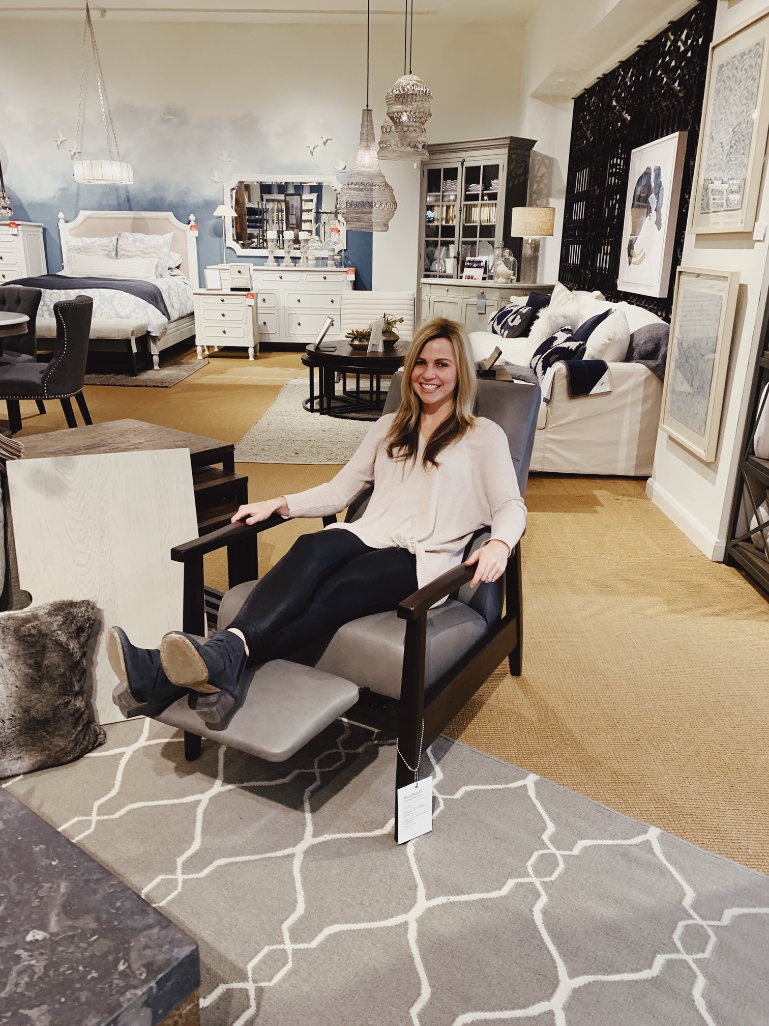 How To Shop For Furniture Like You Mean It. Testing out chairs before making a purchase. How to pick out new furniture for your home.