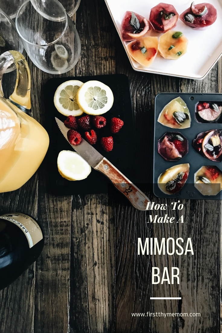 How To Make A Mimosa Bar. How to host a brunch and serve up mimosas with citrus berry basil infused ice cubes. Making fancy ice cubes. Custom ice cube shapes for brunch bar. Must have brunch foods. #mimosa #brunch #bar