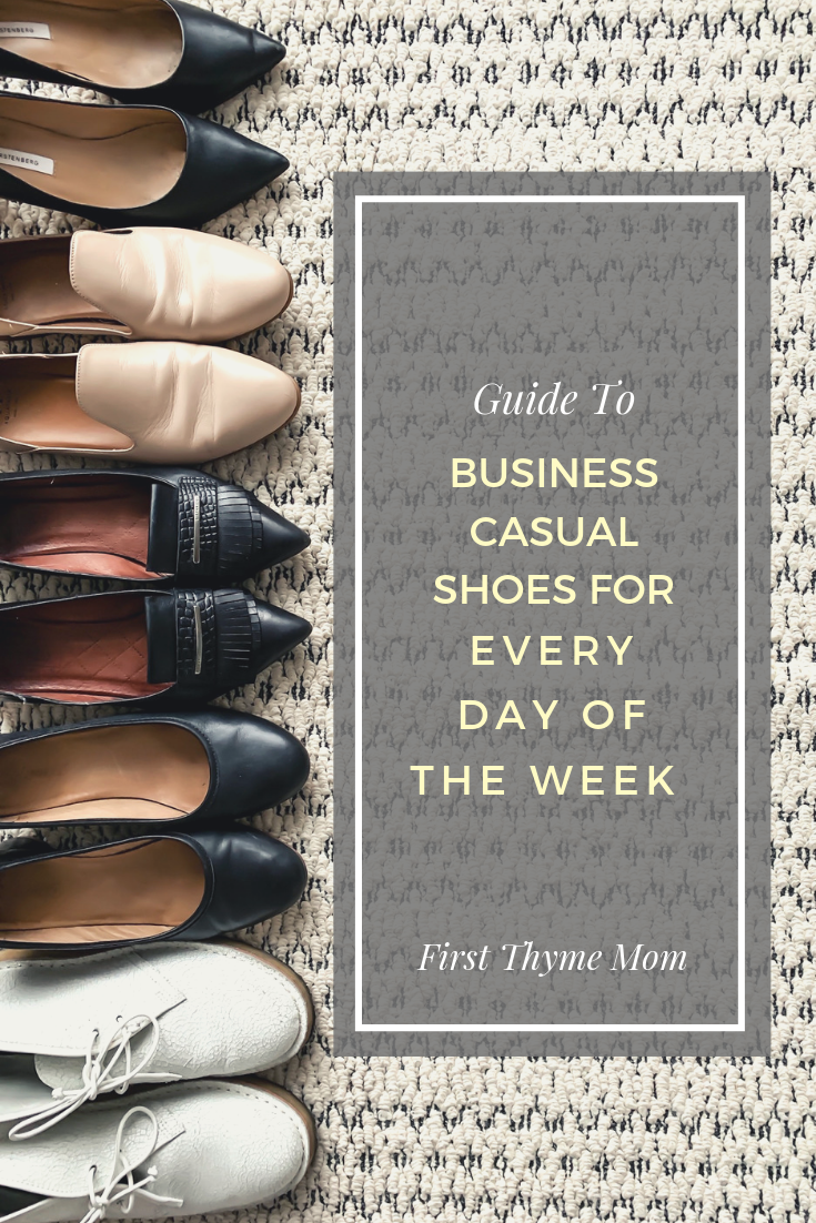 Business Casual Shoes For Women For Every Day Of The Week. Guide To Business Casual Shoes For Working Women. Best Shoes For Business Casual Dress Attire for Women. Best work shoes. Best flats for work. Best heals for for, business casual dress. #business #casual #womens #shoes