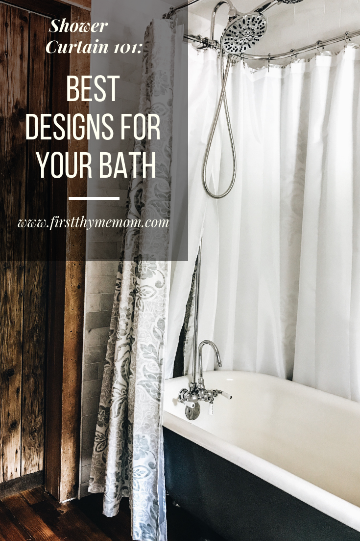 Colorful Shower Curtains With Print For Your Freestanding Bath Tub. Best Shower Curtains For Your Bathroom. Stylish shower curtains. Colorful shower curtains. Rustic farmhouse bath tub. #shower #curtain #bath #tub